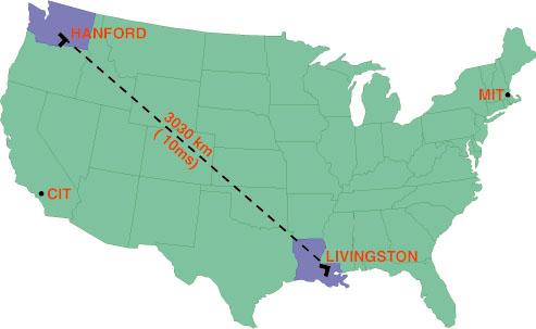 Observatorios LIGO en Estados Unidos