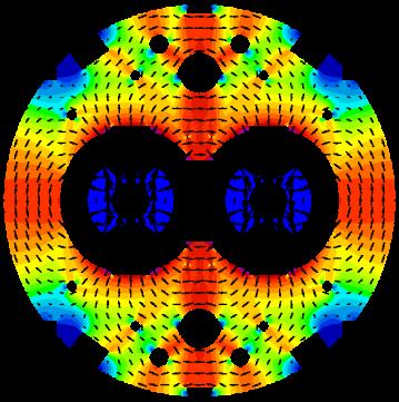 Intensidad de Campo magnético generado por los dipolos.