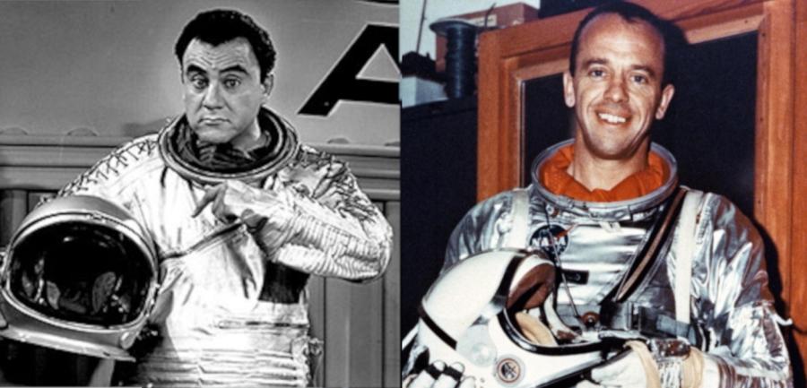 """La visita del astronauta """"José Jiménez"""" aEspaña."""